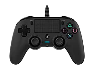 Nacon Wired Compact Controller for PS4 (Black) PlayStation official Licensed Product