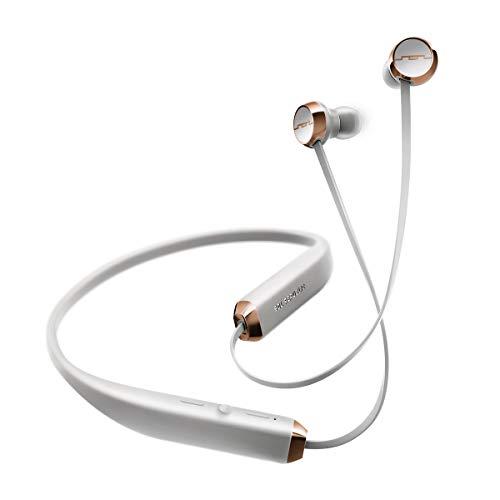 Sol Repubblic Auricolari in-ear Wireless Bluetooth, Fino a 8 ore di musica, Comodo archetto per il collo, Controlli del mic e volume facili da premere, Design Uitra-leggero, Grigio