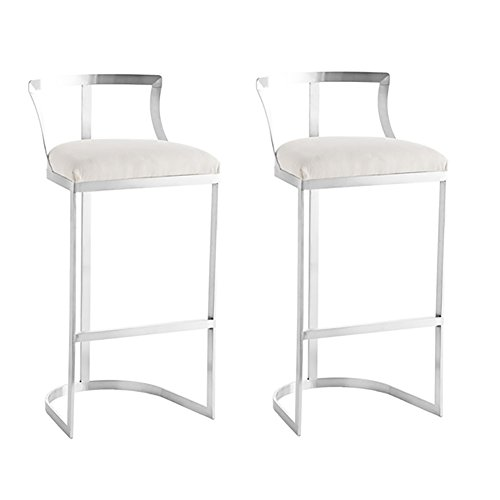 XUEPING Nordic Iron Bar Stuhl Bürostuhl Gold, Grau Barhocker Home Mode Kreative Persönlichkeit Single/Doppel Counter Chair (Farbe : B ×2) (Doppel-wechsel Moderne)