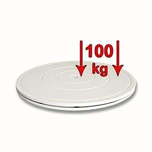Assiette pivotante universelle 40 cm jusqu'á 100 kg blanc