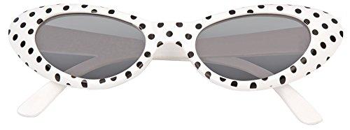 mit Punkten - Weiß Schwarz (50er 60er Jahre Kostüme)