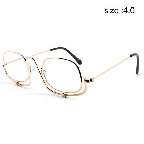 PerGrate Faltbare Make-up-Brille Flip Portable Lesebrille Lupen -