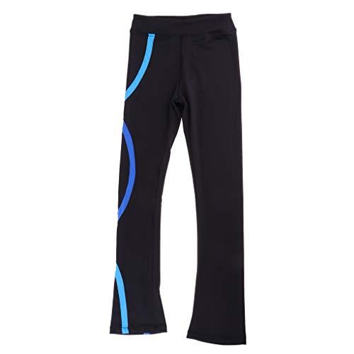 perfeclan Eiskunstlauf Outfit Straight Skate Hosen Hosen Trainingsanzug Für Mädchen Frauen - Blau, 100