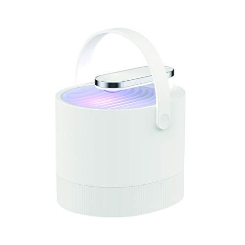 Andouy Elektrischer Insektenvernichter, UV Insektenvernichter Mückenlampe Schutz vor Elektrischem Schlag Tragbare Mückenfalle(11.2x12.1x13.1cm.Weiß) -