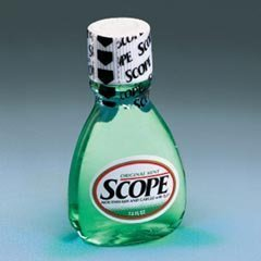 Scope Mouthwash, Small Size Bottle, 1.5-oz., 180 Per Case by PROCTER AND GAM