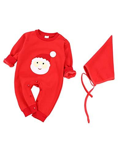 BESBOMIG Unisex Neugeborenes Overall Strampelhöschen Baby Pyjamas - Gemütlich Kostüme Kleider Weihnachten EIN Stück Body