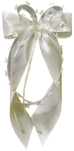 Antennenschleifen Autoschleifen Autoschmuck Hochzeit SCH0063 creme champagner (10 Stück)
