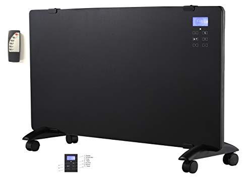 LCD Glaskonvektor Elektroheizer Heizgerät Wandheizung 1500 Watt Touchscreen und FB