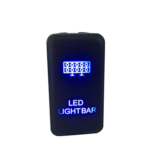 Lorsoul Auto On off Interruttore di Pulsante LED Blu Filo di Rame ABS Copertura Light Bar per Toyota Yaris Tundra