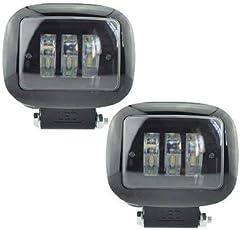 HITSAN INCORPORATION 1pair Car Auxiliary Working Lamp 12v 50w LED Headlights Motorcycle LED Super Bright 6500K Spotlight car Fog lamp Work Lights Color 2pcs Work Lights