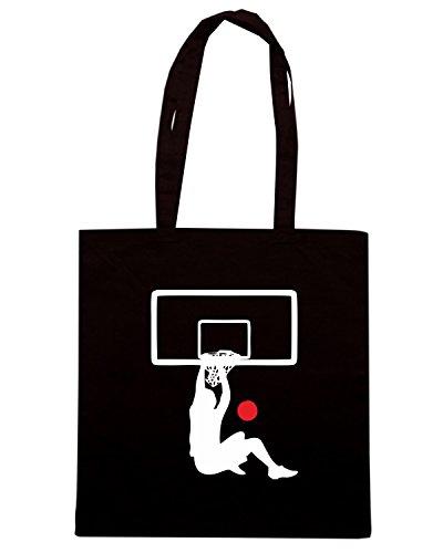 T-Shirtshock - Borsa Shopping OLDENG00395 basketball (3) Nero