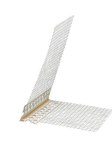 Eckwinkel 100 x 150 mm mit Abzugskante spitz 15 mm Gewebewinkel 10x15 cm 250 cm Winkel Kantenprofil Fassade