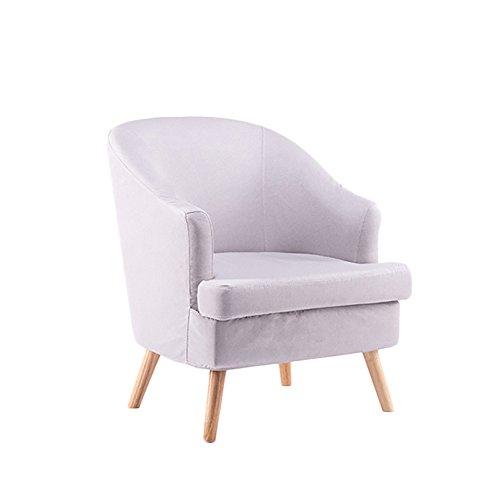 HTZ Sofa Paresseux, Sofa Simple Nordique, Petit Sofa Moderne Minimaliste De Tissu De Taille + (Couleur : Gris argent)