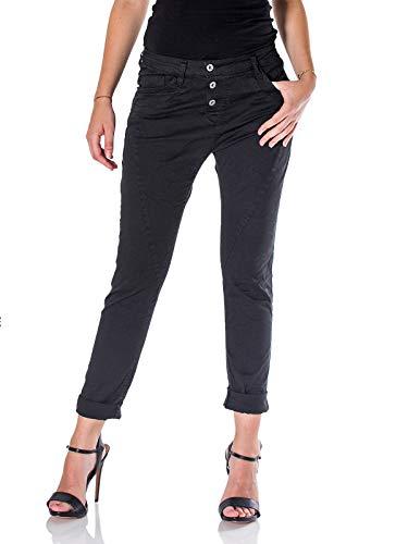 Please, Jeans Donna P78 Baggy, Black Cotton (Medium)