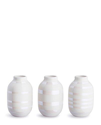 Kähler 16053 Design Mini-Vasen Omaggio Pearl (3-teilig)