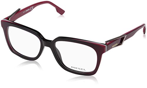 Diesel Unisex-Erwachsene Frame DL5111 077-54-17-145 Brillengestelle, Red, 54