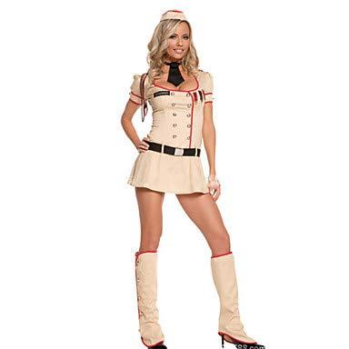 Kostüm Winter Cosplay Soldat - HAOBAO Cosplay Kostüme Soldat/Krieger Fest/Feiertage Halloween Kostüme Modisch Top Rock Mützen Halloween Karneval Frau