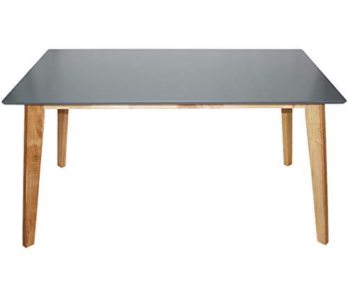 KMH®, Rechteckiger Esszimmertisch Hilde (150 x 90 cm) Grau (#201206)