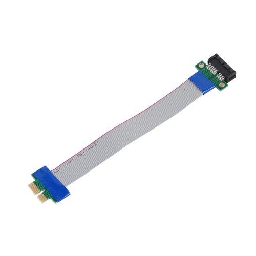Apollo23-PCI-E PCI-Express 1X Slot Riser Flexible Ribbon Extender Verlängerungskabel Kabel