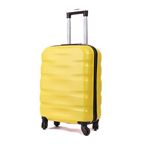 55x40x20cm Lightweight Ryanair Maximum Size Carry On Hand Cabin Luggage Suitcase,Bagaglio a Mano Unisex, (55cm-31.5L) (Giallo)