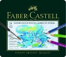 Faber-Castell knstler de acuarela lápiz Albrecht D & # X161; Rer©, 24colores surtidos en estuche metálico
