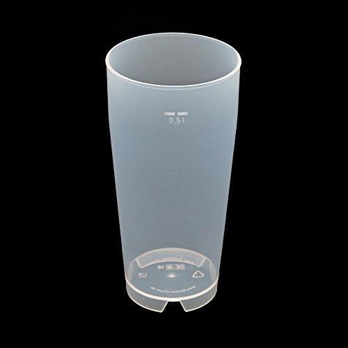 25 Stück 0,5L Mehrwegbecher PP transparent