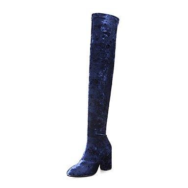 Les bottes pour le printemps en PU Gris Bleu,bleu,télévision US8 / EU39 / UK6 / CN39