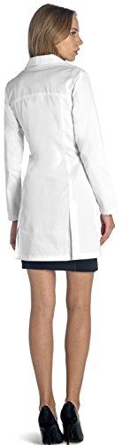 Dr. James Taillierter Slim Fit Laborkittel für Damen DE-18-E, Größe EU 42; XL, Farbe Weiß