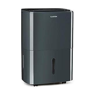 Klarstein DryFy10 Deshumidificador de Aire – Secador reformas, 240 W, 10 L/día, Espacio Ideal: 15-20 m² (50 m³), Filtro Nylon, Modo silencioso, Antracita