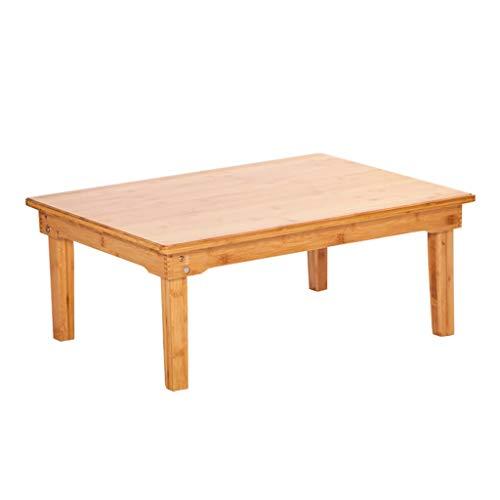 Tables Basse Pliante en Bambou Baie Vitrée D'ordinateur De Lit Petite Simple Chambre À Coucher Lit Petit Bureau en Tatami Basse Rectangulaire Basses