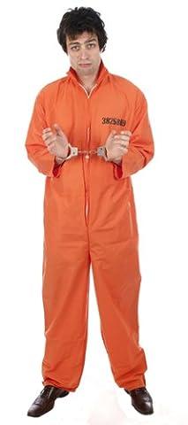 D/UP ADULT PRISONER OVERALL ORANGE XL SIZE