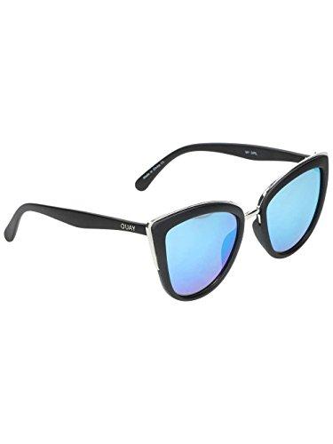 Quay Eyewear Damen Sonnenbrille MY Girl, Schwarz (Blk/Blue), One size (Herstellergröße: Einheitsgröße)