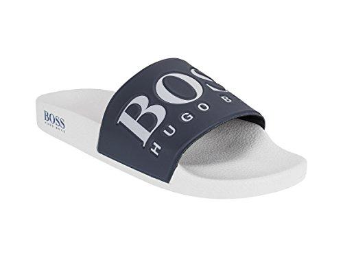 Boss Solar Slide Herren Sandalen Blau (Hugo Boss-blaue Schuh)