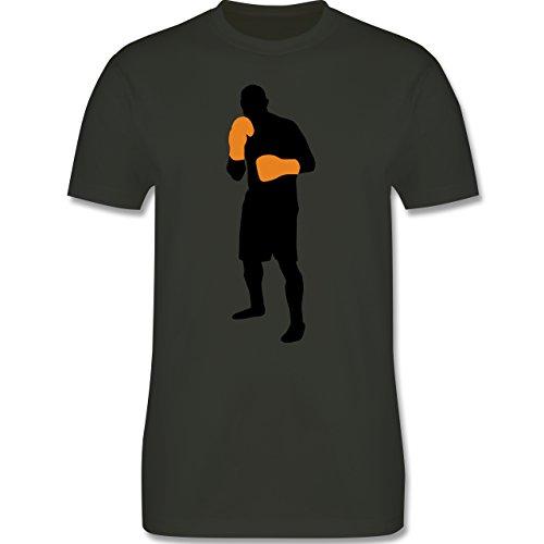 Kampfsport - Box Grundstellung - Herren Premium T-Shirt Army Grün