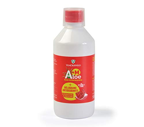 Vonderweid - Aloe Arborescens + Melograno (A+M), Succo Antiossidante, Bottiglia PET 500 ml