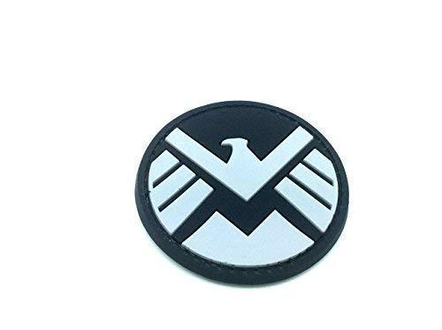 Patch Nation S.H.I.E.L.D. Ironman Team Shield Agent Schwarz PVC Airsoft Paintball Klett Emblem Abzeichen