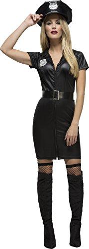 Fever, Damen Korrupte Polizistin Kostüm, Kleid, Gürtel und Mütze, Größe: XS, (Polizistin Kostüme)