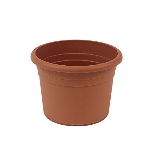 greemotion Pot de fleurs rond en plastique Ø 40cm 18L - Pot pour plantes extérieures et intérieures - Pot de jardin couleur terre cuite