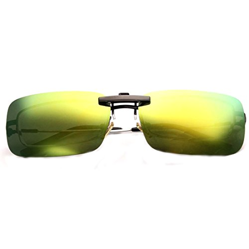 NoyoKere Unisex polarisierte Klipp auf der Sonnenbrille, die Nachtsicht-Linse Anti-UVA Anti-UVB radfahren Reitausrüstung klippt, golden