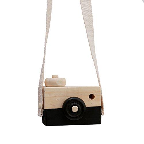 Lalang Schwarz Niedliche Baby Kinder Holz Kamera Spielzeug Kindermode Bekleidung Accessory Zubehör,Als beste Geburtstagsgeschenk für Baby (Baby-kamera-spielzeug)