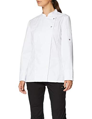 BP Professional Chef Jacket für Damen - Langarm-Kochbekleidung - Schwarze / weiße Kochuniform -  ,Gr:S weiß -