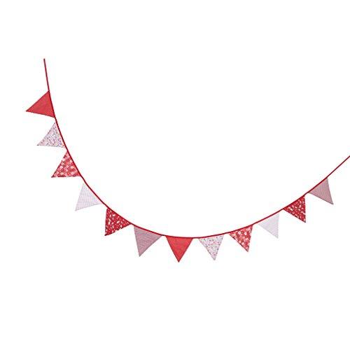 (Homyl Süße Filz Flaggen Wimpel Girlande Wimpelkette Deko für Geburtstag Party - # 3, 330 x 14 cm)