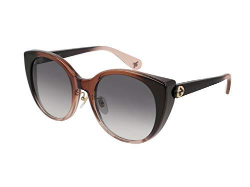 Gucci Damen GG0369S-003 Sonnenbrille, Rot (Rojo/Rosa/Transparente), 54.0