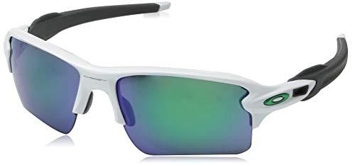 Oakley Herren Flak 2.0 XL 918892 Sonnenbrille, Weiß (Polished White/Prizmjade), 59
