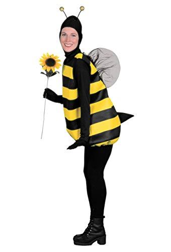 Forum Novelties Women's Complete Bumble Bee Adult Costume, Small, Black/Yellow