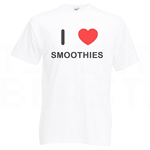 I Love Smoothies - T-Shirt Weiß