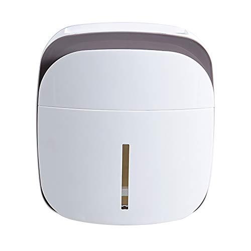 NaKita Taschentuchbox, Mehrzweck-Toilettenpapierhalter, Wandmontage, mit Taschentuchspender, Box mit Ablage, Telefonablage und Schubladen-Organizer für Bad oder Küche grau