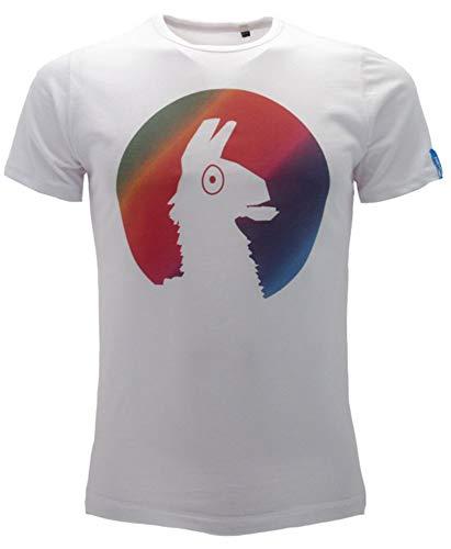 Global Brands Group T-Shirt Originale Lama Bambino Ragazzo Epic Games Maglietta Bianca Ufficiale (12-13 Anni)