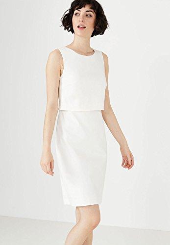 HALLHUBER Robe two-in-one avec tissu structuré Blanc Cassé
