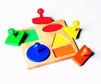 Geometric Puzzle Board by Guidecraft TOY (English Manual)